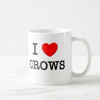 I Love Crows Coffee Mugs