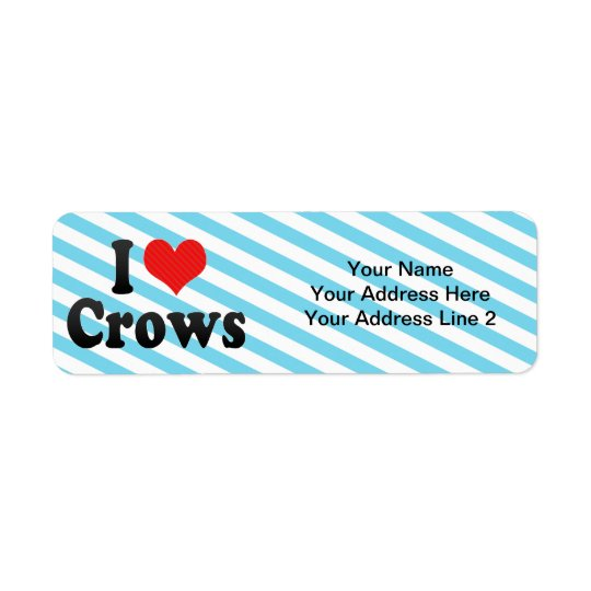 I Love Crows Return Address Label