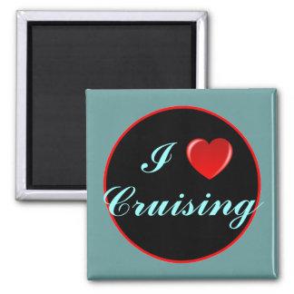 I Love Cruising 03 Square Magnet