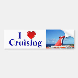 I Love Cruising C Bumper Sticker