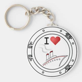 I Love Cruising Key Ring
