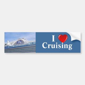 I Love Cruising Pr Bumper Sticker