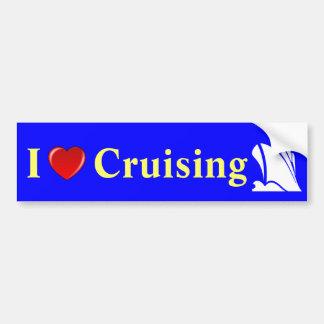 I Love Cruising Ship Icon Bumper Sticker