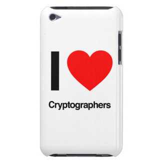 i love cryptographers iPod touch cases