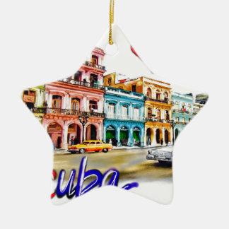 I love Cuba Ceramic Ornament