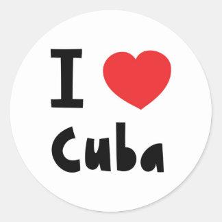 I love cuba classic round sticker