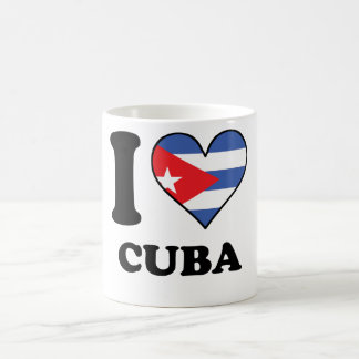 I Love Cuba Cuban Flag Heart Coffee Mug