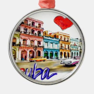 I love Cuba Metal Ornament