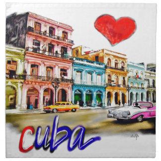 I love Cuba Napkin