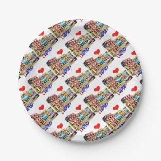 I love Cuba Paper Plate