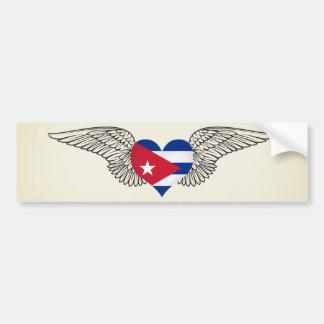 I Love Cuba -wings Bumper Sticker
