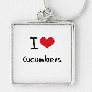 I love Cucumbers Key Ring