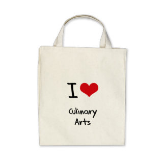 I love Culinary Arts Canvas Bags