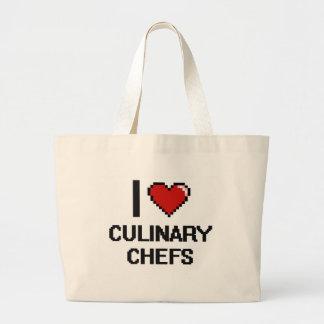 I love Culinary Chefs Jumbo Tote Bag