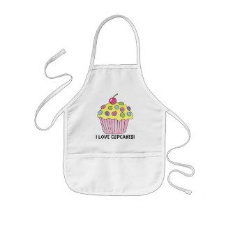 I Love Cupcakes apron kids