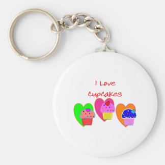"""I Love Cupcakes""--Cupcake lovers gifts Keychain"