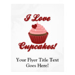 I Love Cupcakes Full Colour Flyer