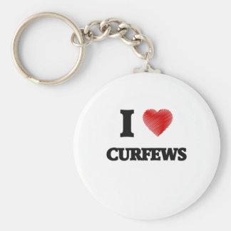 I love Curfews Basic Round Button Key Ring