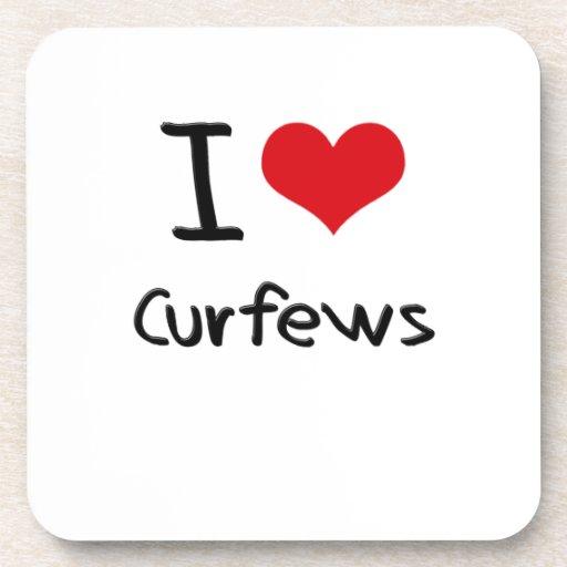 I love Curfews Drink Coaster