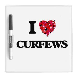 I love Curfews Dry Erase White Board