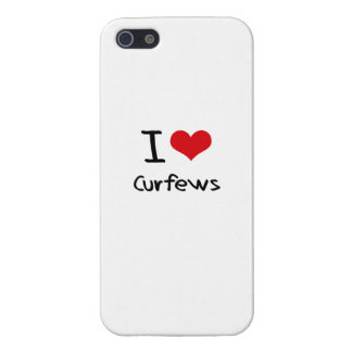 I love Curfews iPhone 5/5S Cases