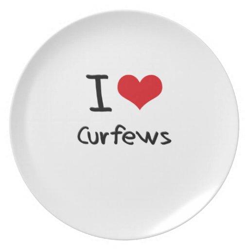 I love Curfews Dinner Plate