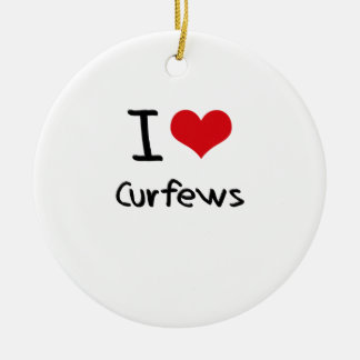 I love Curfews Round Ceramic Decoration