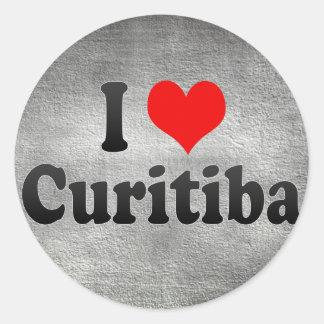 I Love Curitiba, Brazil Classic Round Sticker