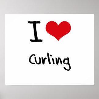 I love Curling Print