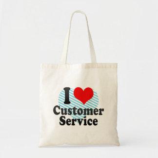 I love Customer Service Canvas Bags