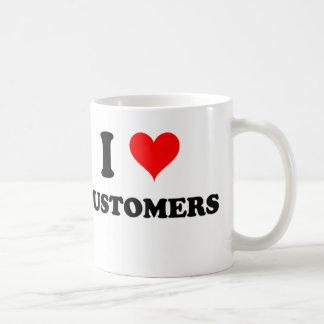 I Love Customers Basic White Mug