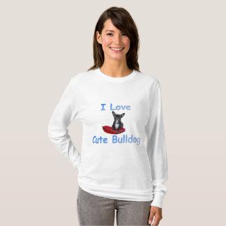 I Love Cute Bulldog T-Shirt
