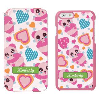 I Love Cute Pandas Incipio Watson™ iPhone 6 Wallet Case