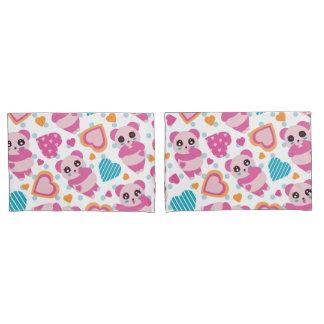 I Love Cute Pandas Pillowcase