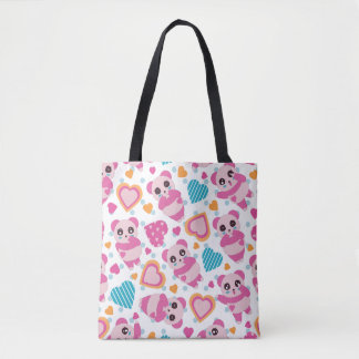 I Love Cute Pandas Tote Bag