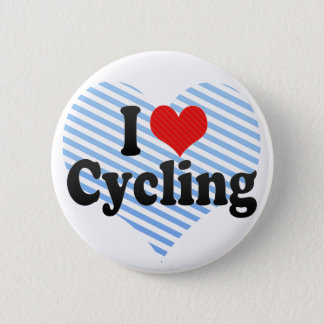 I Love Cycling 6 Cm Round Badge