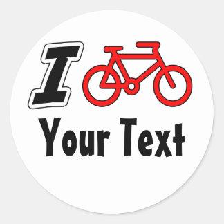 I Love Cycling Blank Classic Round Sticker