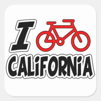 I Love Cycling California Sticker