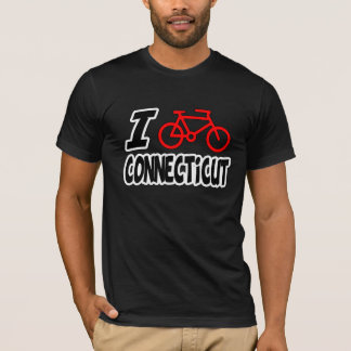 I Love Cycling Connecticut T-Shirt