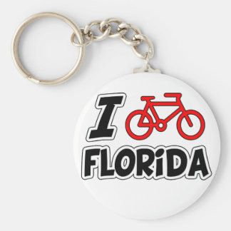 I Love Cycling Florida Key Ring