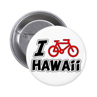 I Love Cycling Hawaii Pin