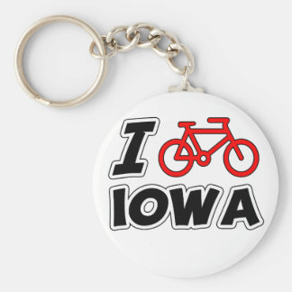 I Love Cycling Iowa Key Ring