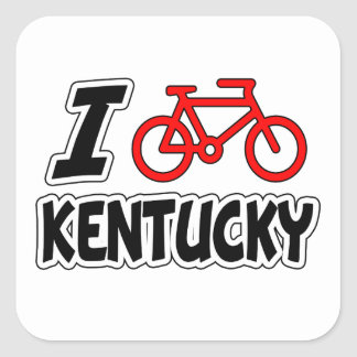 I Love Cycling Kentucky Sticker