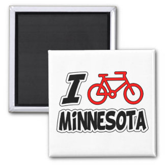 I Love Cycling Minnesota Magnet