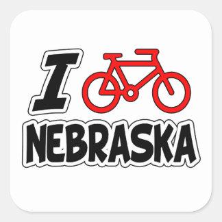 I Love Cycling Nebraska Sticker