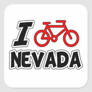 I Love Cycling Nevada Stickers