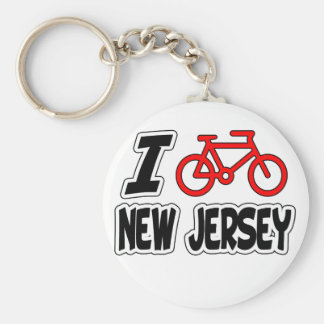 I Love Cycling New Jersey Key Ring