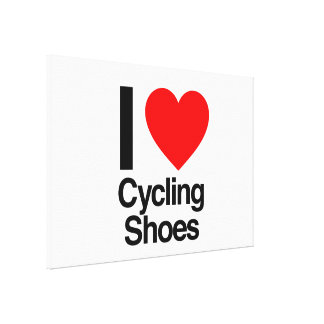 i love cycling shoes canvas prints