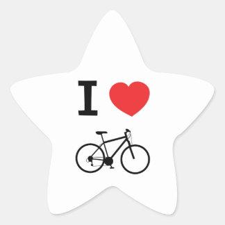 I love Cycling Star Sticker
