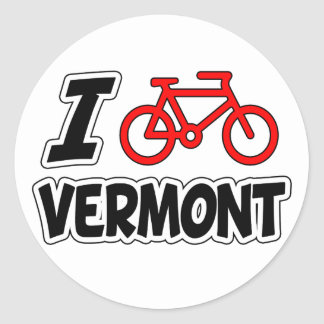 I Love Cycling Vermont Classic Round Sticker